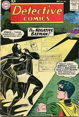 Detective # 284 - The Negative Batman - Classic Cover - Sheldon Moldoff Art