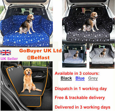 Waterproof Dog Car Boot Liner Protector Cover Dog Blanket Bumper Mat for Dogs