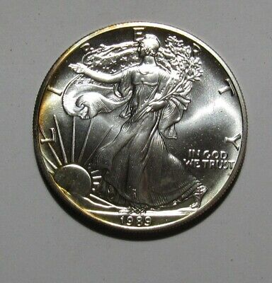 1989 American Silver Eagle Dollar - BU Condition - 225SA