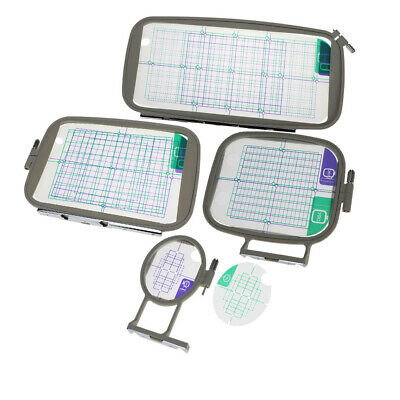 4x Assorted Embroidery Hoops Frame with Grid for Brother Embroidery Machine