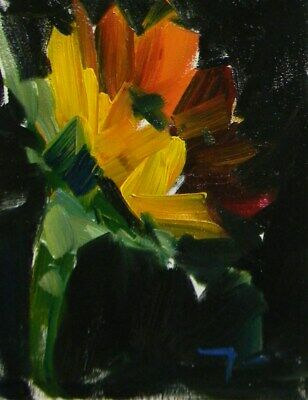 JOSE TRUJILLO OIL PAINTING 8x10 Sunflower Flower Art Impressionism ORIGINAL NR