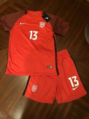 30b4a47a1 Nike Alex Morgan  13 USA National Red Jersey Shorts - NWT Size 28 Womens  Small