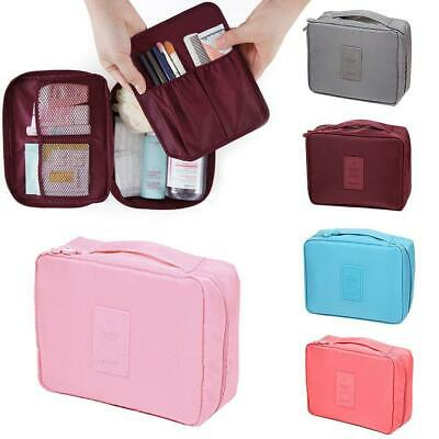 Travel Makeup Cosmetic Toiletry Case Wash Organizer Storage Pouch Hanging Bag AE