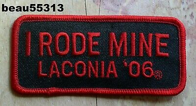 "2006 Laconia ""I Rode Mine"" Bike Rally Vest Jacket Patch"