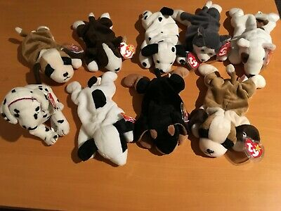93487b7ea97 Lot of 9 Ty Original Beanie Babies Dogs All Retired 1993- 2001 Bruno Rescue  Doby