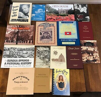 16 Books Arkansas History Eureka Springs - Monte Ne -Orval Faubus -Hot Springs++