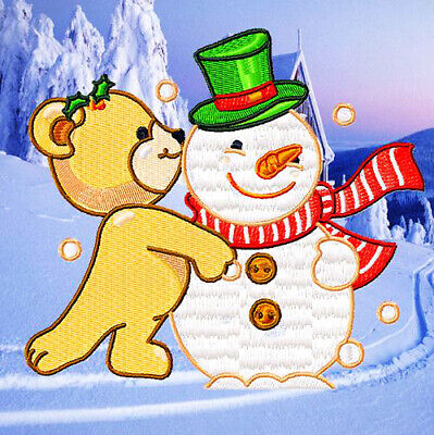 HAPPY CHRISTMAS BEARS  10 MACHINE EMBROIDERY DESIGNS CD or USB