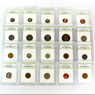 Estate Lot of 20 Slabbed US Coins Includes 90% Silver, Type and Proof Coins - 2a