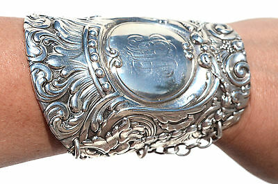 Griffin Lion Tiffany Sterling Silver Cuff Bracelet Gladiator Spartan Antique 925