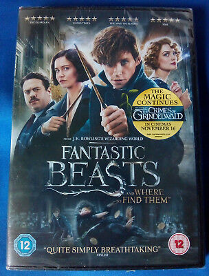 Fantastic Beasts And Where To Find Them (2016) Dvd + Ultraviolet * New Sealed *
