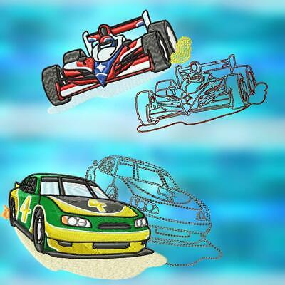 HOT CARS AND DASHBOARDS  10 MACHINE EMBROIDERY DESIGNS CD or USB