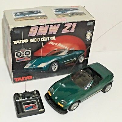 Vintage Taiyo Bmw Z1 Remote Control Toy Car, Box, Battery Powered, Made In Japan