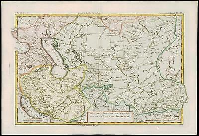 1780 Antique Map of CENTRAL ASIA Independent Tartary Persia China by Bonne (26)