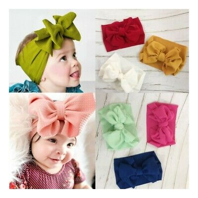 Baby Hairband Kid Newborn Infant Princess Big Bow Turbon Knot Headband Hair Band