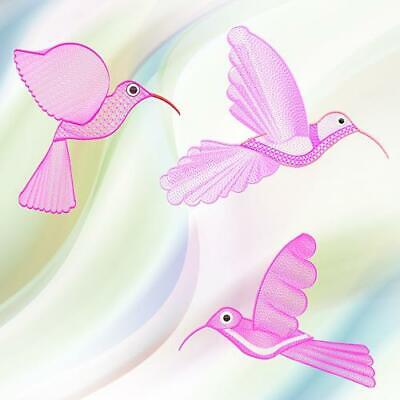 HUMMING BIRDS DAINTY 10 MACHINE EMBROIDERY DESIGNS CD or USB
