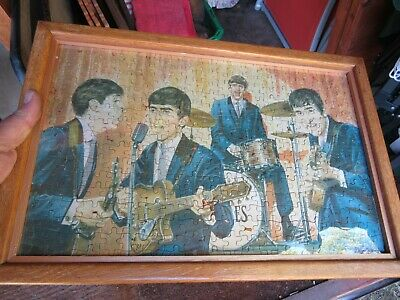 The Beatles 1964 NEMS 340 Piece Jigsaw Puzzle No 1 Complete Framed without Box