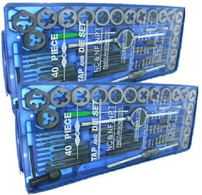 2019TAP AND DIE Set 80pc SAE & METRIC w/Case Screw Extractor Remover Chasing NEW
