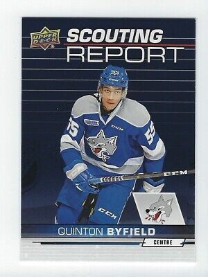2018-19 Upper Deck CHL Quinton Byfield Scouting Report