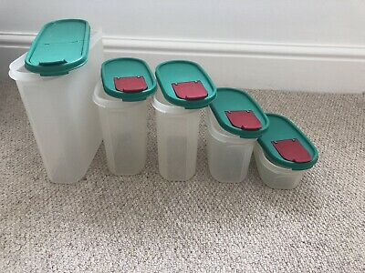 Vintage Tupperware Set Of 5 Storage Containers With Lids
