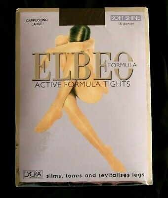 7bc1fd5216012 ELBEO Soft Shine Active Formula Medium Support Pantyhose Tights Cappuccino  Dark