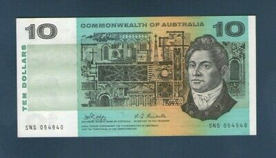 1968 Commonwealth of Australia $10 Paper Note - Phillips/Randall, aUNC. (R303)