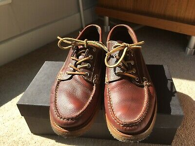 696d47dac88f YUKETEN COUNTRY RANGER Crepe Wedge Sole Boat Shoes Snakeskin Brown ...