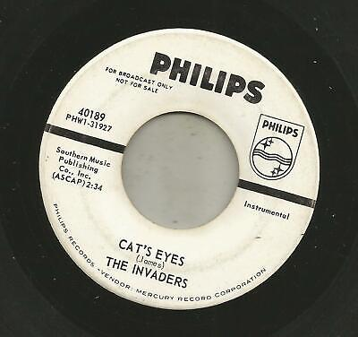 ROCKABILLY SURF INSTROS bw VOCAL- INVADERS - CAT'S EYES  -HEAR - 1964 DJ PHILIPS
