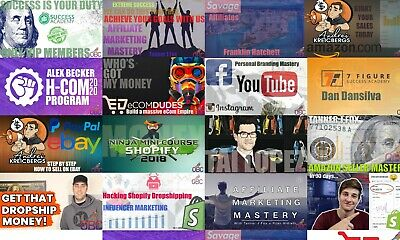 eBay Amazon Shopify Instagram Youtube Courses 18 Mentors All in one place HUSTLE