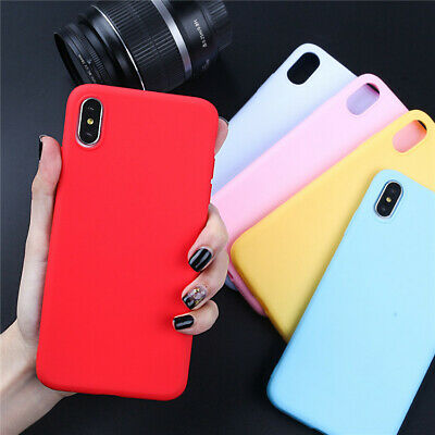 For iPhone 7 8 Plus X XS Max XR Silicone Shockproof Heart Case TPU Soft Cover