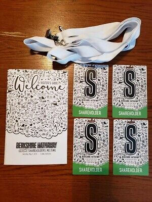 2019 Berkshire Hathaway Annual Shareholders Meeting 4 Tickets & Visitor's Guide