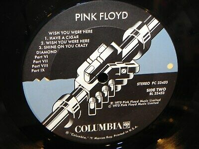 Pink Floyd Wish You Were Here Columbia Records With Original Inner Sleeve