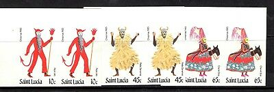 St Lucia 1985 Christmas. SG 854 - 856 Imperf MNH pairs