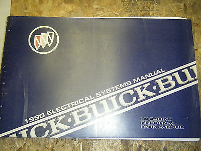1990 buick electra lesabre park avenue electrical systems manual wiring  diagrams