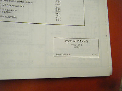 1972 ford pinto factory wiring diagrams manual schematic sheets