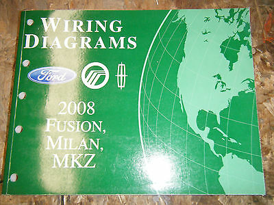 2008 ford fusion mercury milan lincoln mkz oem wiring diagrams manual  service