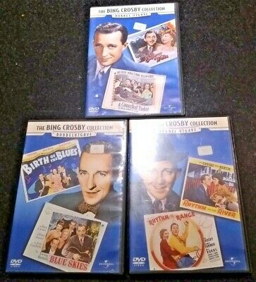 THE BING CROSBY COLLECTION 3x DOUBLE FEATURE DVDs RHYTHM EMPEROR BLUE SKIES