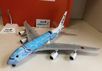 All Nippon Airbus A380-800 JA381A Flying Hanu Lani 1/200 scale diecast JC Wings