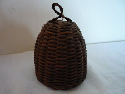 Superb Small English Antique Vintage Hand Made Country Basket Wicker Work Cosy