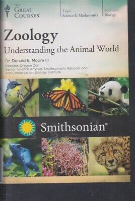 DVD~ ZOOLOGY: UNDERSTANDING THE ANIMAL WORLD by THE GREAT COURSES~4 DVDs +BOOK