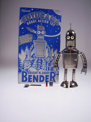 "GSR ROBOT GSCOM FUTURAMA ""BRIGHTnSHINY BENDER"" 21cm, TIN TOY, NEU/NEW/NEUFn BOX!"