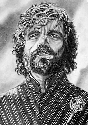 ORIGINAL ACEO sketch card GAME OF THRONES Peter Dinklage TYRION LANNISTER