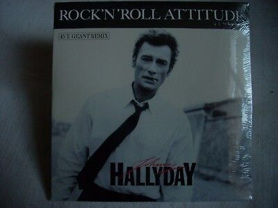 CD single Johnny Hallyday ROCK'N'ROLL ATTITUDE (pochette 45 T géant remix)-Neuf