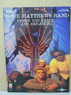 Dave Matthews Band Under The Table And Dreaming- Guitar Vocal & Tab Music Book