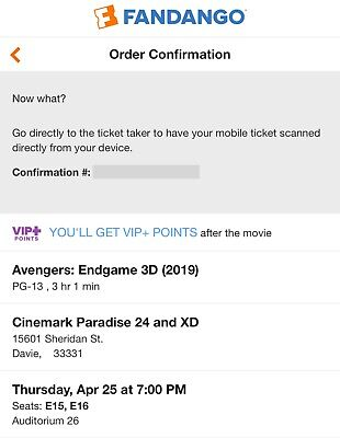 Avengers: Endgame Opening Night Tickets-For Charity-South Florida