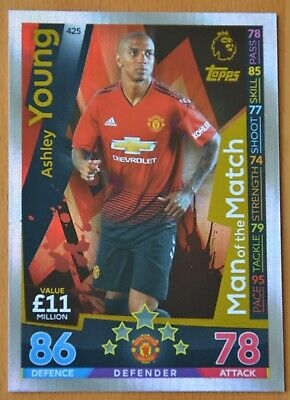 Match Attax 2018-19  Ashley Young - Manchester Untied  Man Of The Match