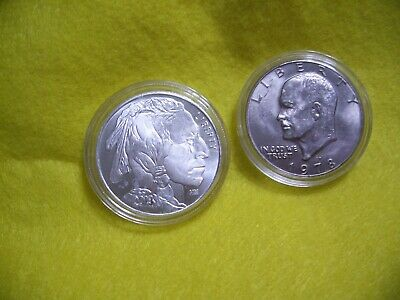 2013 Liberty Indian Head One Oz.999 Silver  &  Free  1978 Ike Dollar