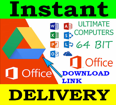 Microsoft Office Pro Plus 2016 🔥 64Bit LIFETIME🕒 instant Delivery 📥 .EXE FILE