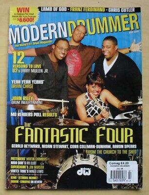 Fantastic Four Modern Drummer Magazine July 2009 Fantastic Four Cover With Featu