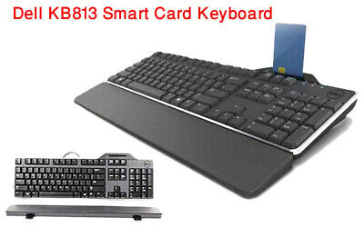 3 X GENUINE Dell USB Smart Card Reader Keyboard KB813 (21/02/K1