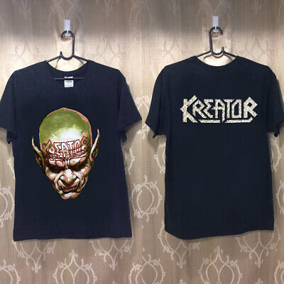 NEW rare - T shirt - KREATOR-cd-cvr-BEHIND-THE-MIRROR-FACE- top black USAsz